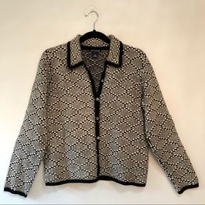 Ann Taylor Lambswool Button Up Cardigan Sweater